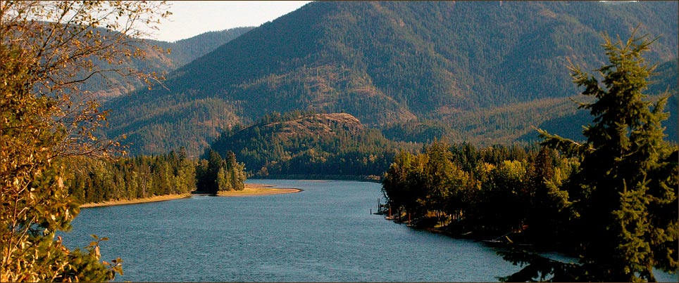 Clark Fork River a beautiful place to buy a luxury property in North Idaho