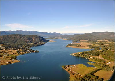 Priest River, Idaho on the shores of the Pend Oreille, River and along Priest River