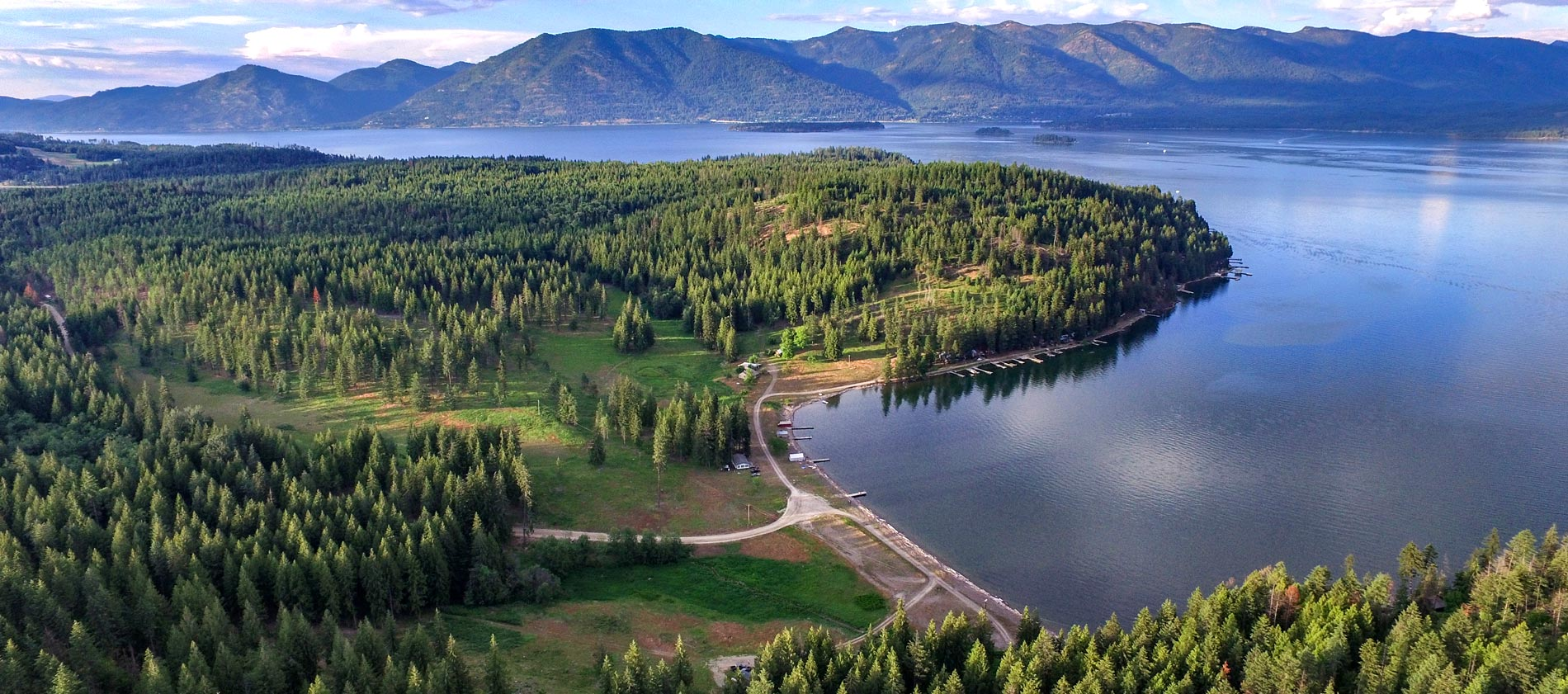 Camp Bay Estate 407 Acres and over 3000 feet of waterfront on Lake Pend Oreille